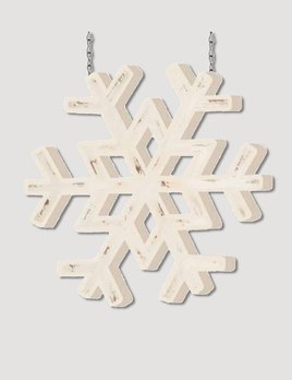 K & K Interiors White Painted Snowflake Arrow Replacement
