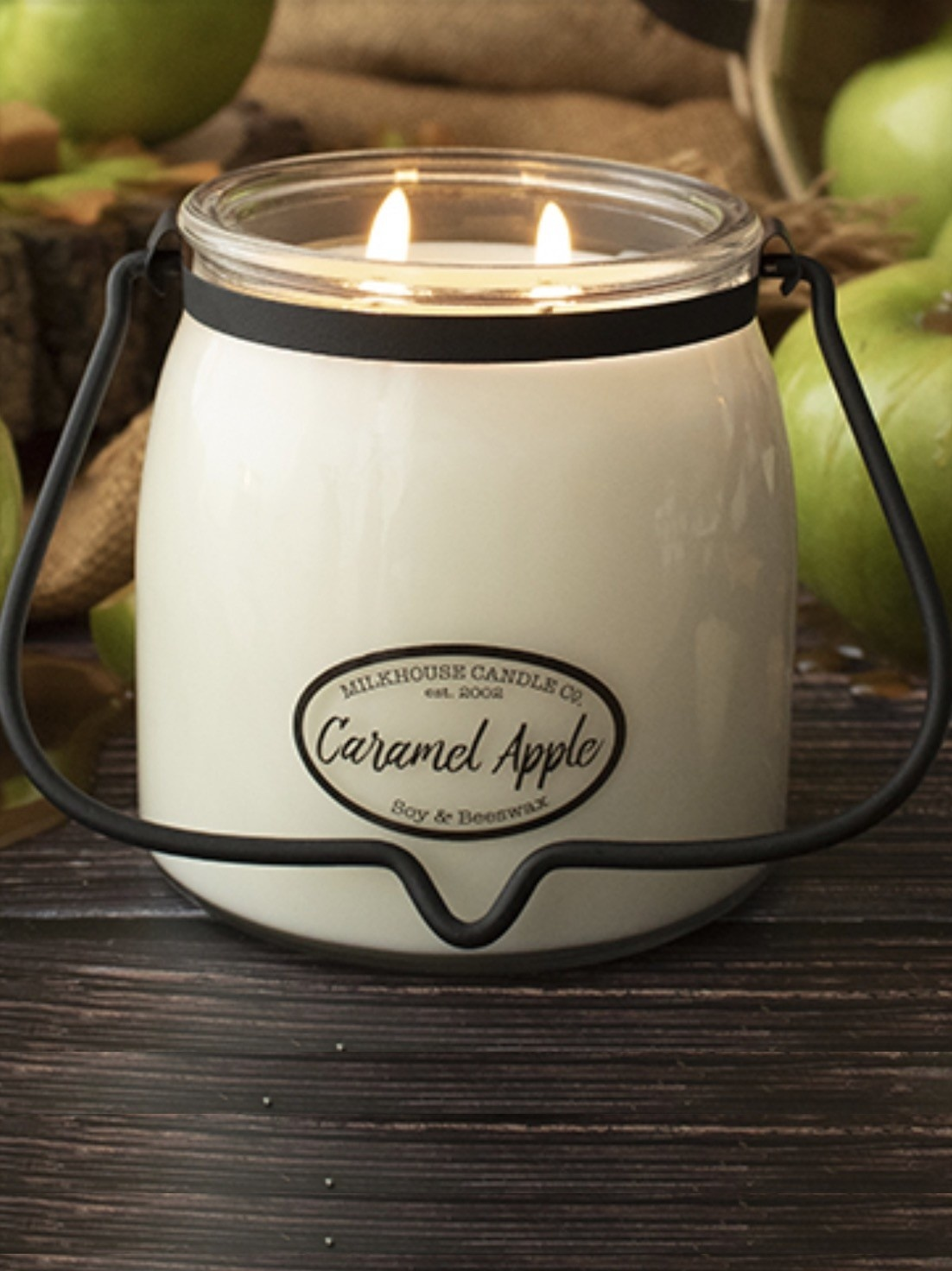 Milkhouse Candles Milkhouse Candle Caramel Apple 16oz Butter Jar