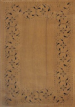 Nana's Farmhouse May House Floorcloth Black Tan