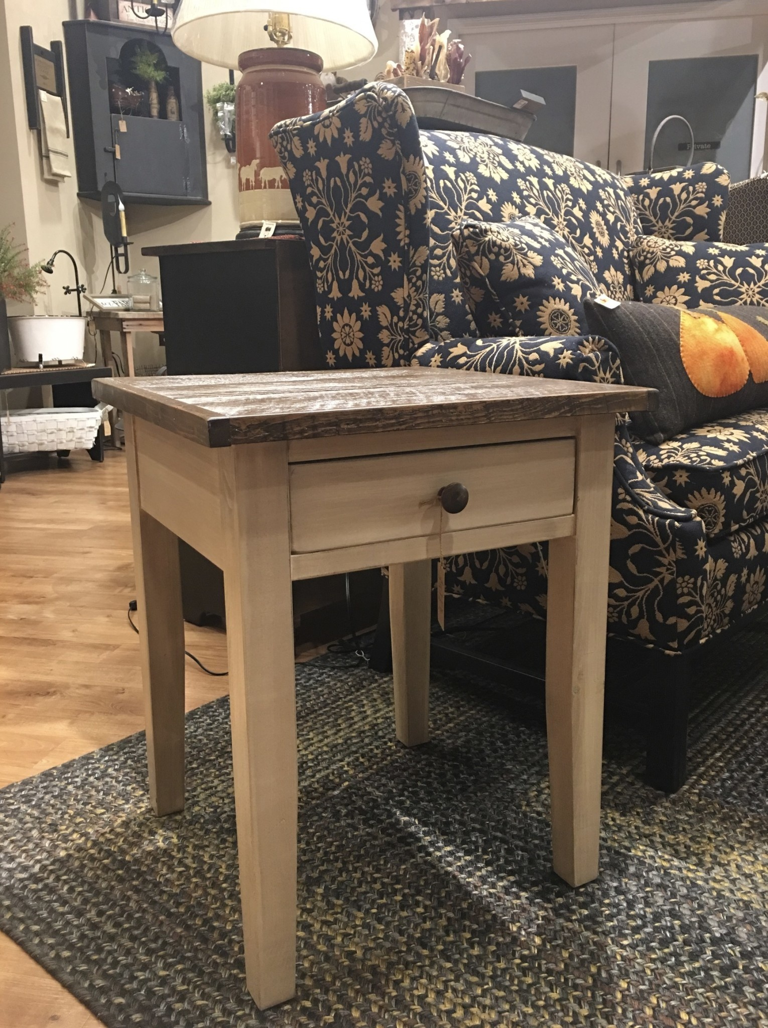 Nana's Farmhouse Farmhouse End Table