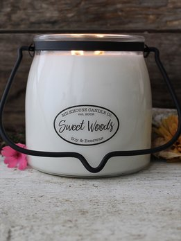 Milkhouse Candles Sweet Woods 16oz Butter Jar
