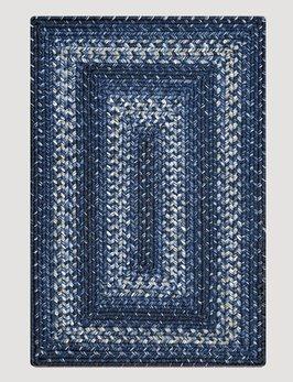 Homespice Decor Navy Ultra Durable Braided Rug