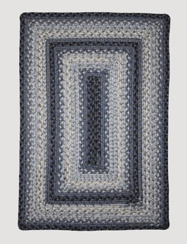 Homespice Decor Juniper Blue Ultra Durable Braided Rug