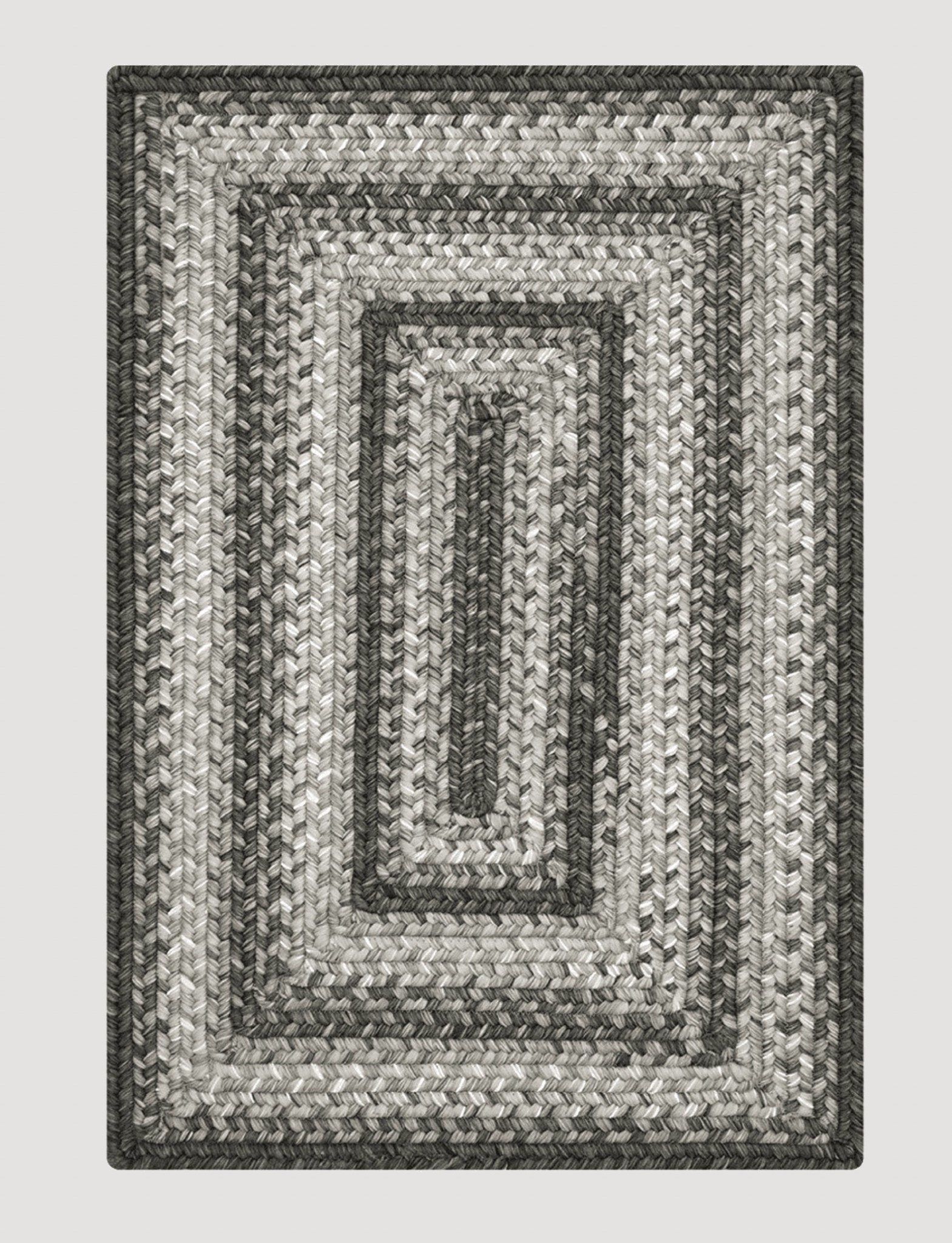 Homespice Decor Graphite Ultra Durable Braided Rug