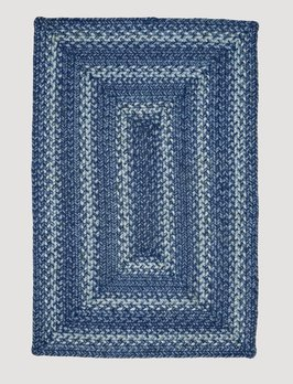 Homespice Decor Denim Jute Braided Rug