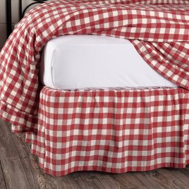 VHC Brands Annie Buffalo Check Red Bed Skirt