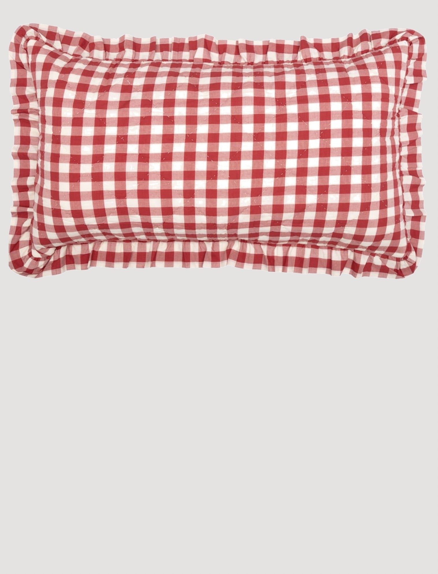 VHC Brands Annie Buffalo Red Check Ruffled Sham