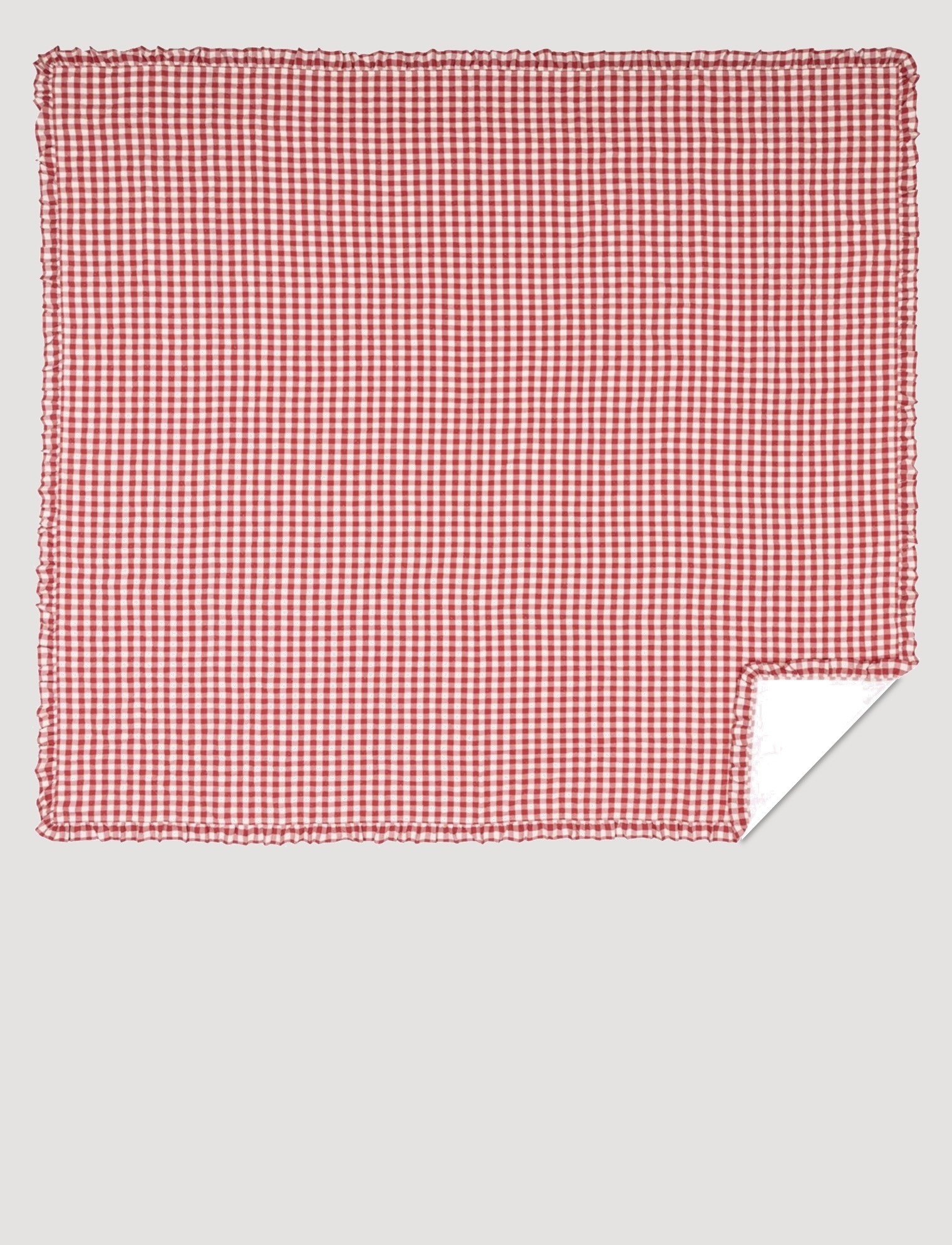 VHC Brands Annie Buffalo Red Check Ruffled Quilt