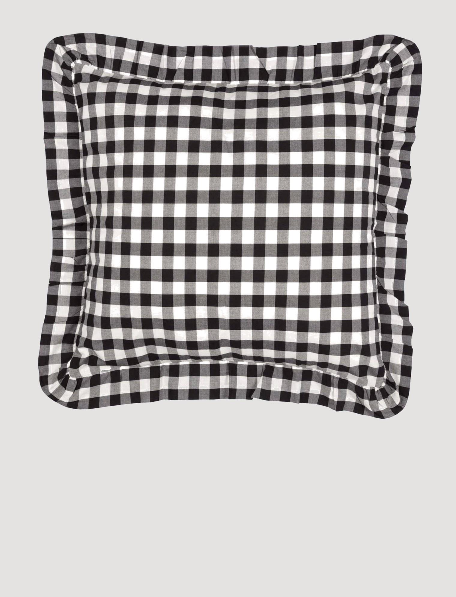 VHC Brands Annie Buffalo Black Check Pillow Fabric Euro Shams 26 x 26