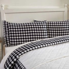 VHC Brands Annie Buffalo Black Check Pillow Cases Set