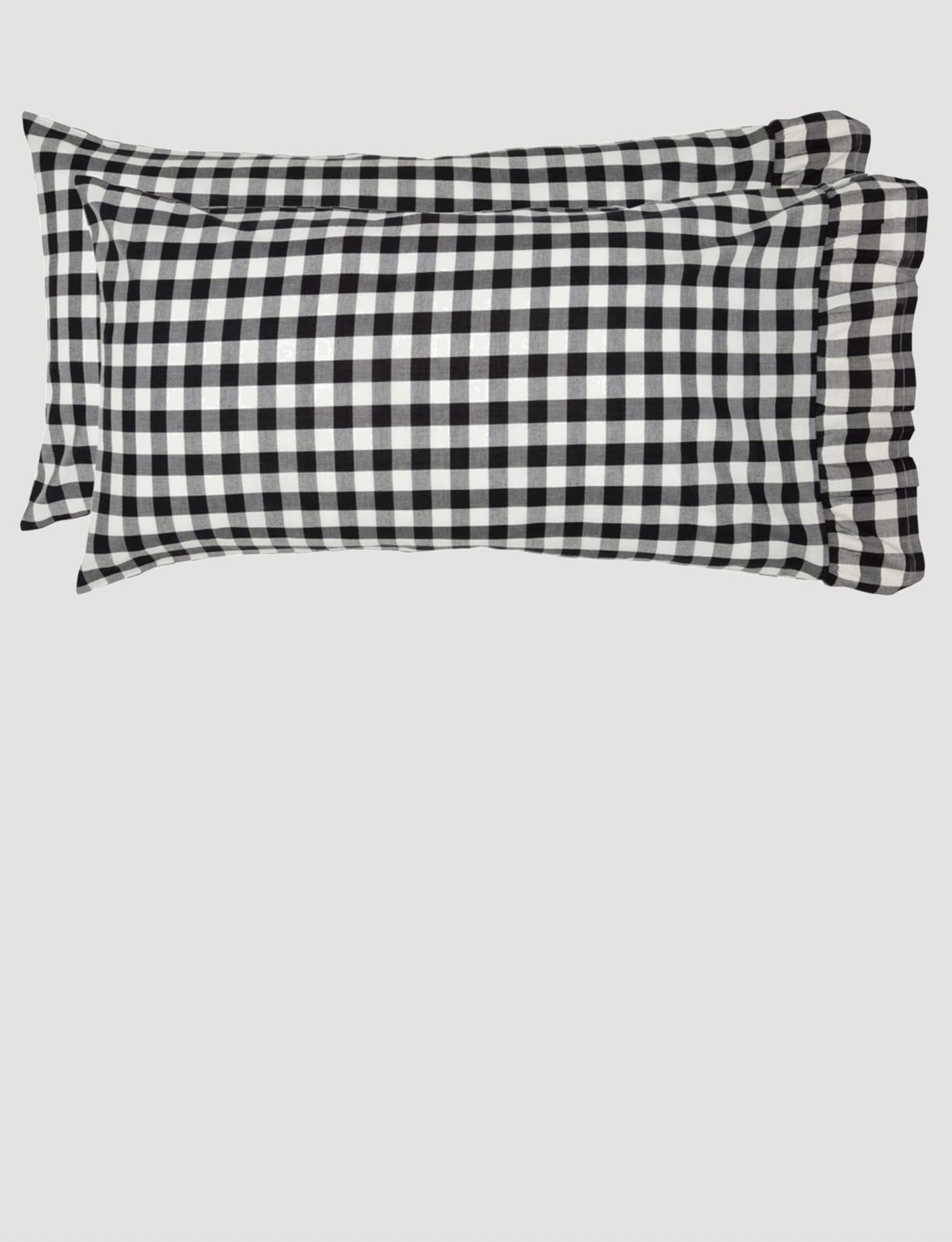 VHC Brands Annie Buffalo Black Check Pillow Cases Set of 2