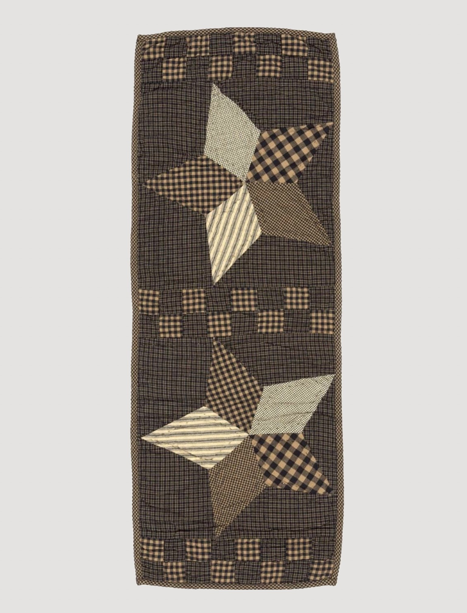 VHC Brands Farmhouse Star Runner Quilted 13 x 36