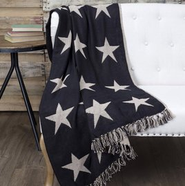 VHC Brands Black Star Throw Woven