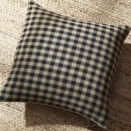 VHC Brands Black Check Pillow Fabric