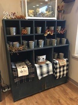 Nana's Farmhouse Two Door Country Cubby Cabinet