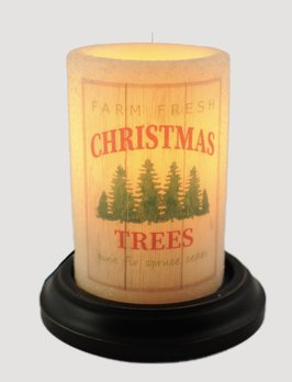 C R Designs Farm Fresh Trees Vanilla Candle Sleeve