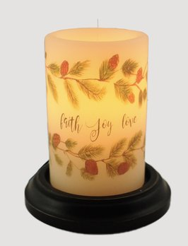 C R Designs Vintage Joy Garland Vanilla Candle Sleeve