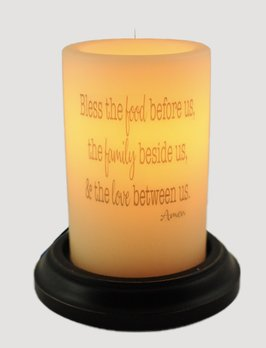 C R Designs Food Family Love Candle Sleeve