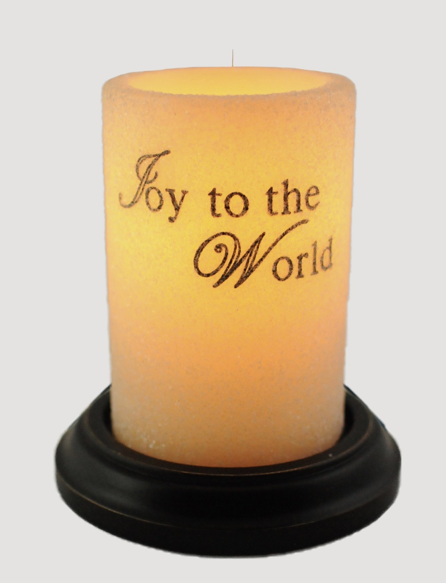 C R Designs Joy To The World Candle Sleeve