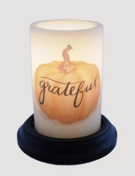 C R Designs Grateful Pumpkin Candle Sleeve