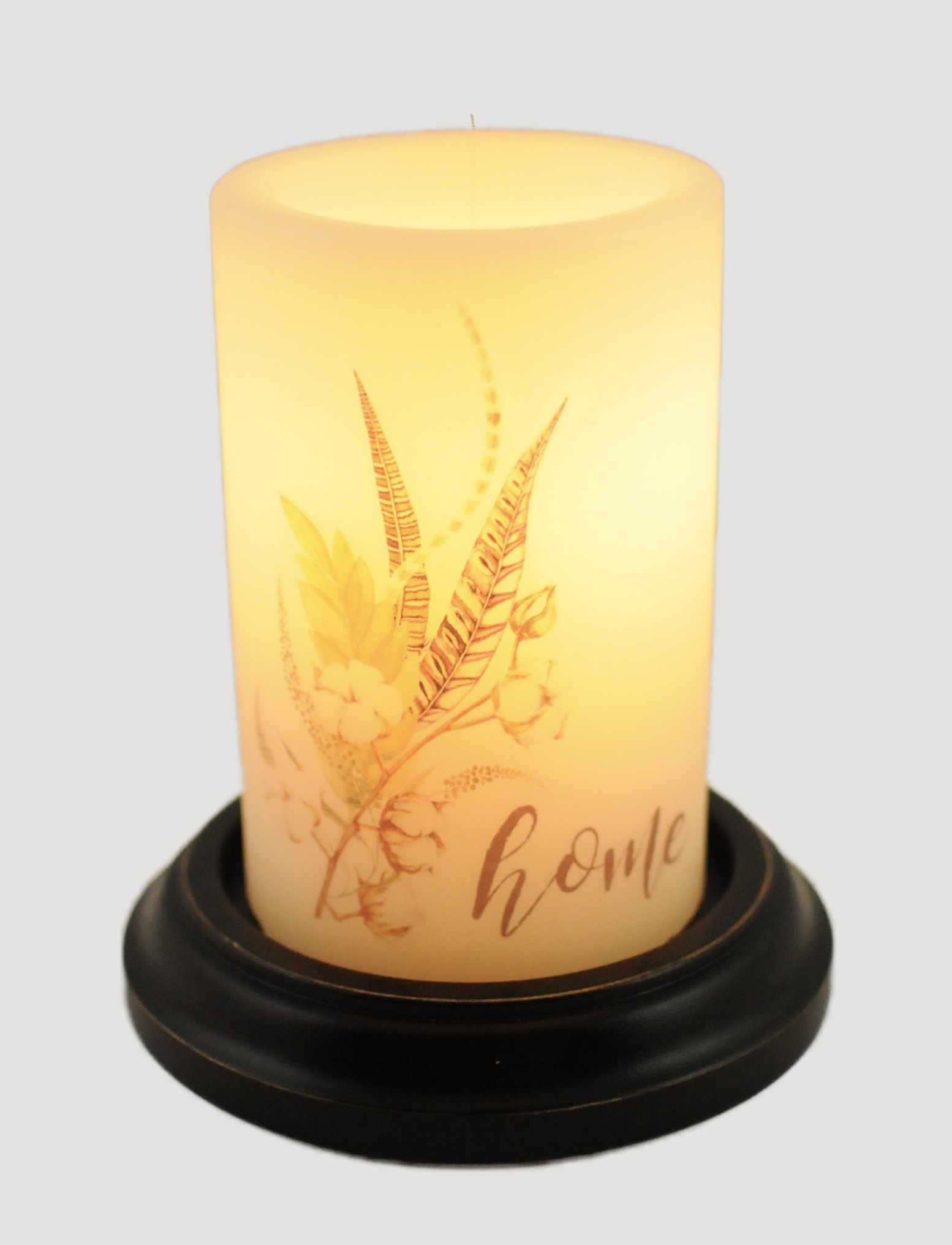 C R Designs White Cotton Home Vanilla Candle Sleeve