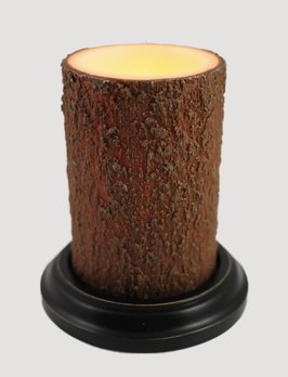 C R Designs Bark Candle Sleeve