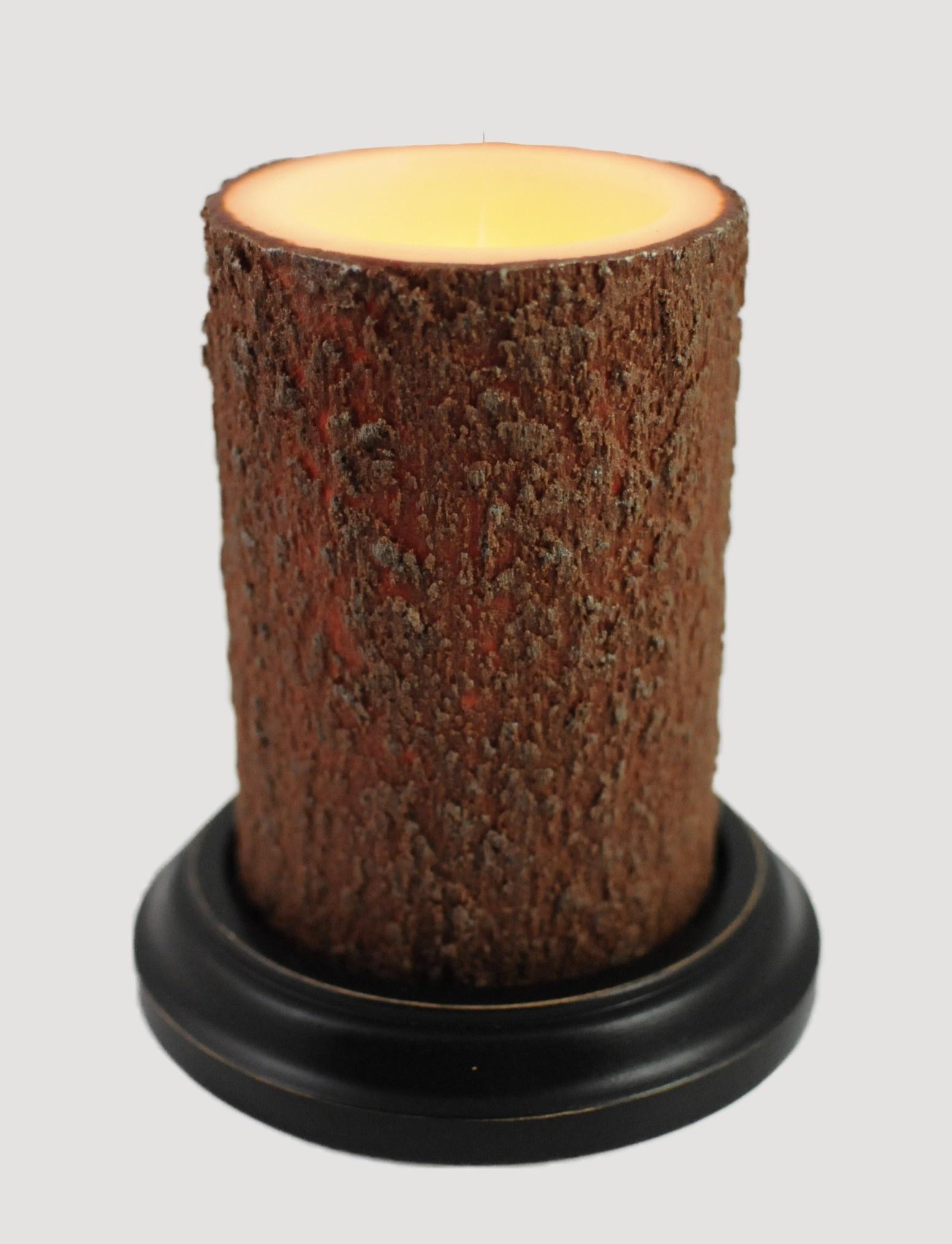 C R Designs Bark Candle Sleeve