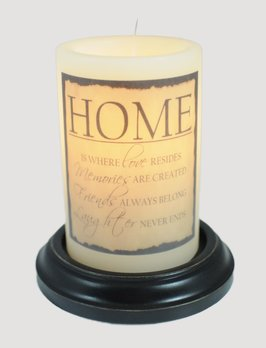 C R Designs Home Candle Sleeve Aged Finish