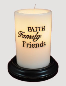 C R Designs Faith Family Friends Candle Sleeve Vanilla