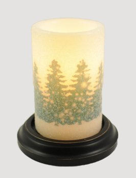 C R Designs Farm Fresh Forest Pine Green Candle Sleeve