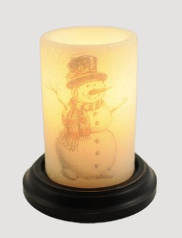 C R Designs Stick Snowman Gumdrop Candle Sleeve
