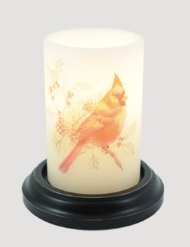 C R Designs Winter Cardinal Candle Sleeve
