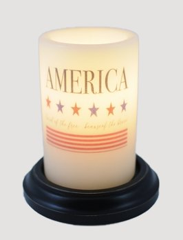 C R Designs America Land Of The Free Candle Sleeve