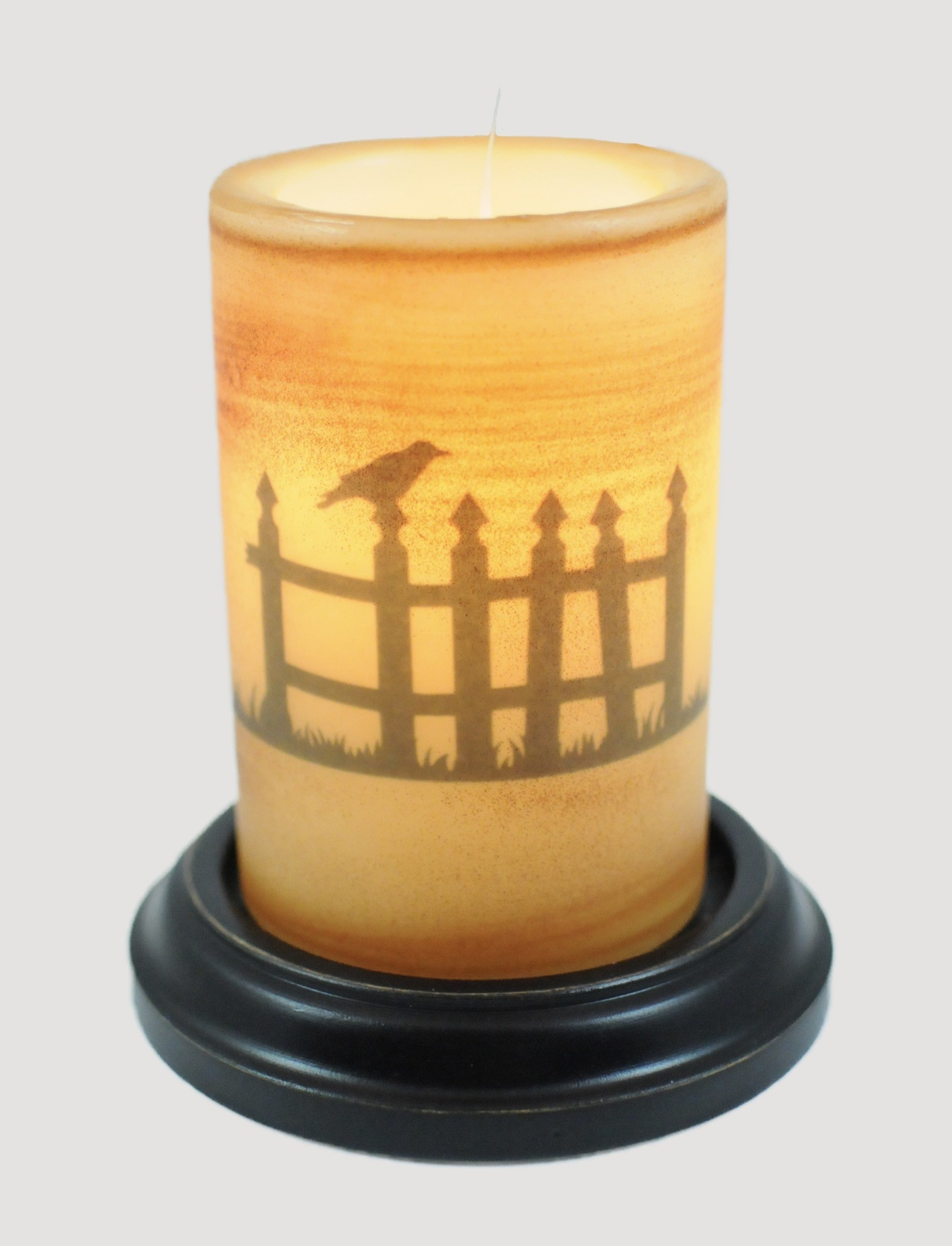 C R Designs Picket Fence Candle Sleeve