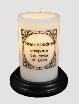 C R Designs Grandchildren Complete the Circle Candle Sleeve
