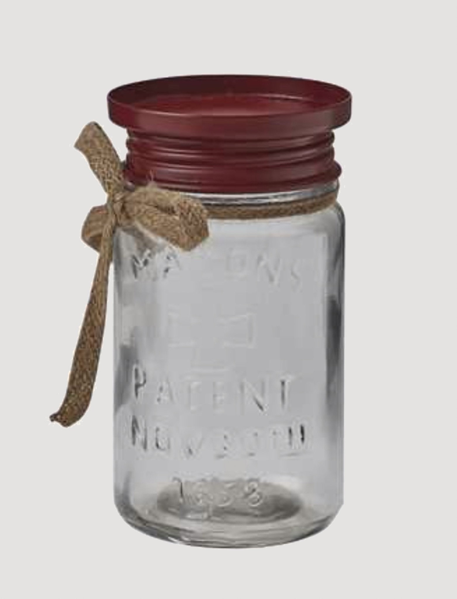 Park Designs Mason Jar Pillar Holder Red