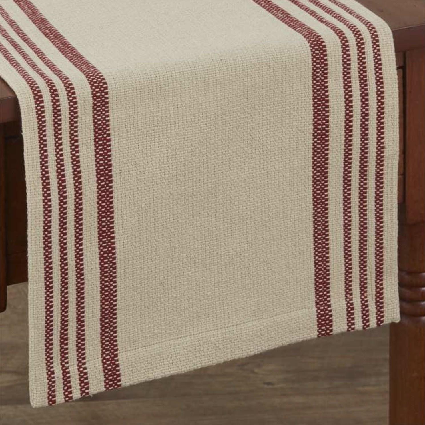 "Park Designs Rustic Stripe Table Runner 36"" L"