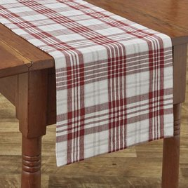 Park Designs Peppermint Plaid Table Runner