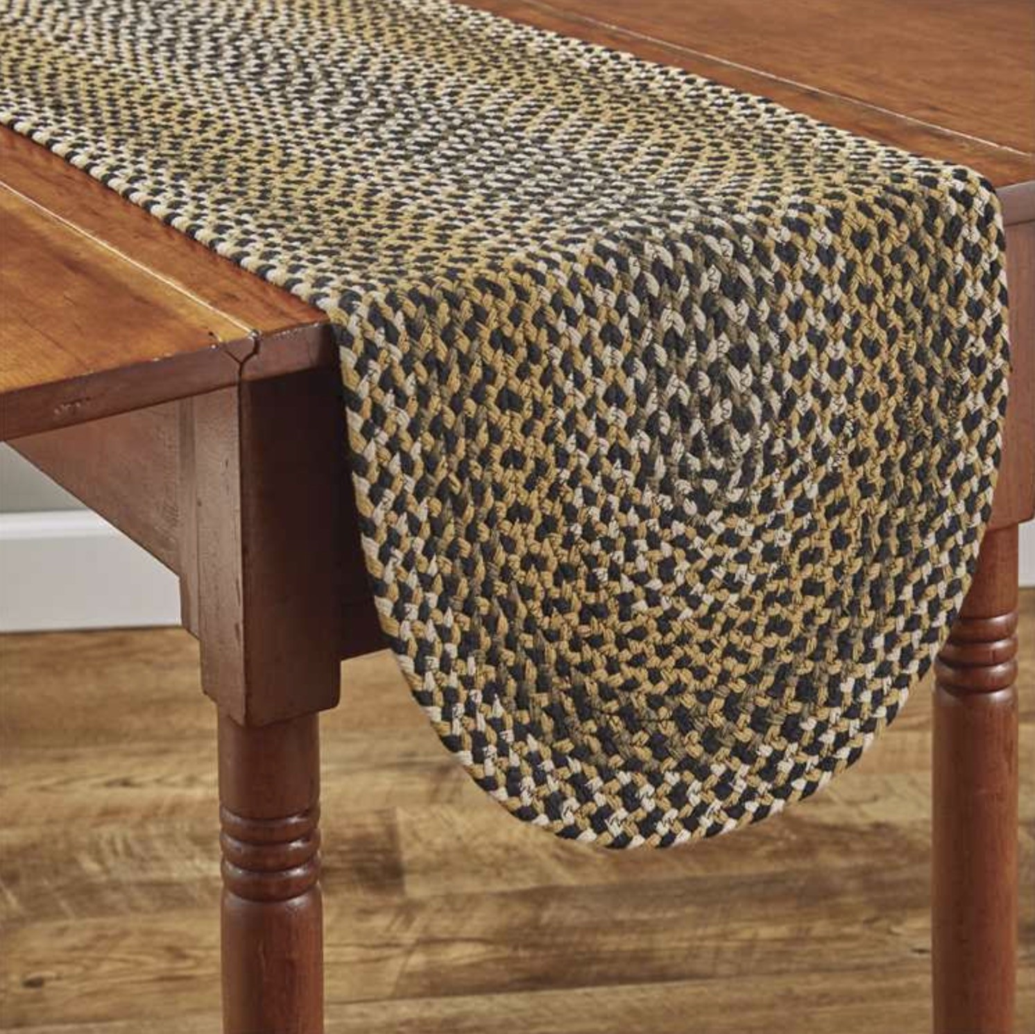"""Park Designs Sunflower Braided Table Runner 54"""""""