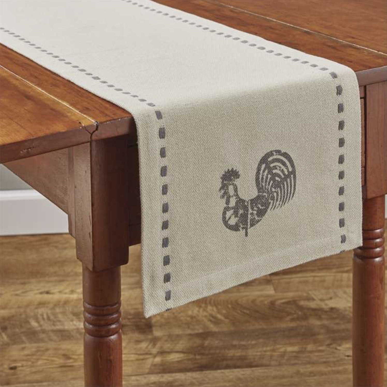 "Park Designs Folk Rooster Table Runner 36"" L"