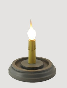 C R Designs Grey Round Candle Sleeve Base