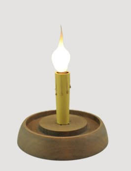 C R Designs Weathered Grey Round Candle Sleeve Base
