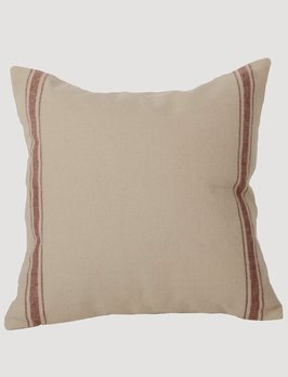 Home Collections By Raghu Grain Sack Stripe Barn Red Pillow