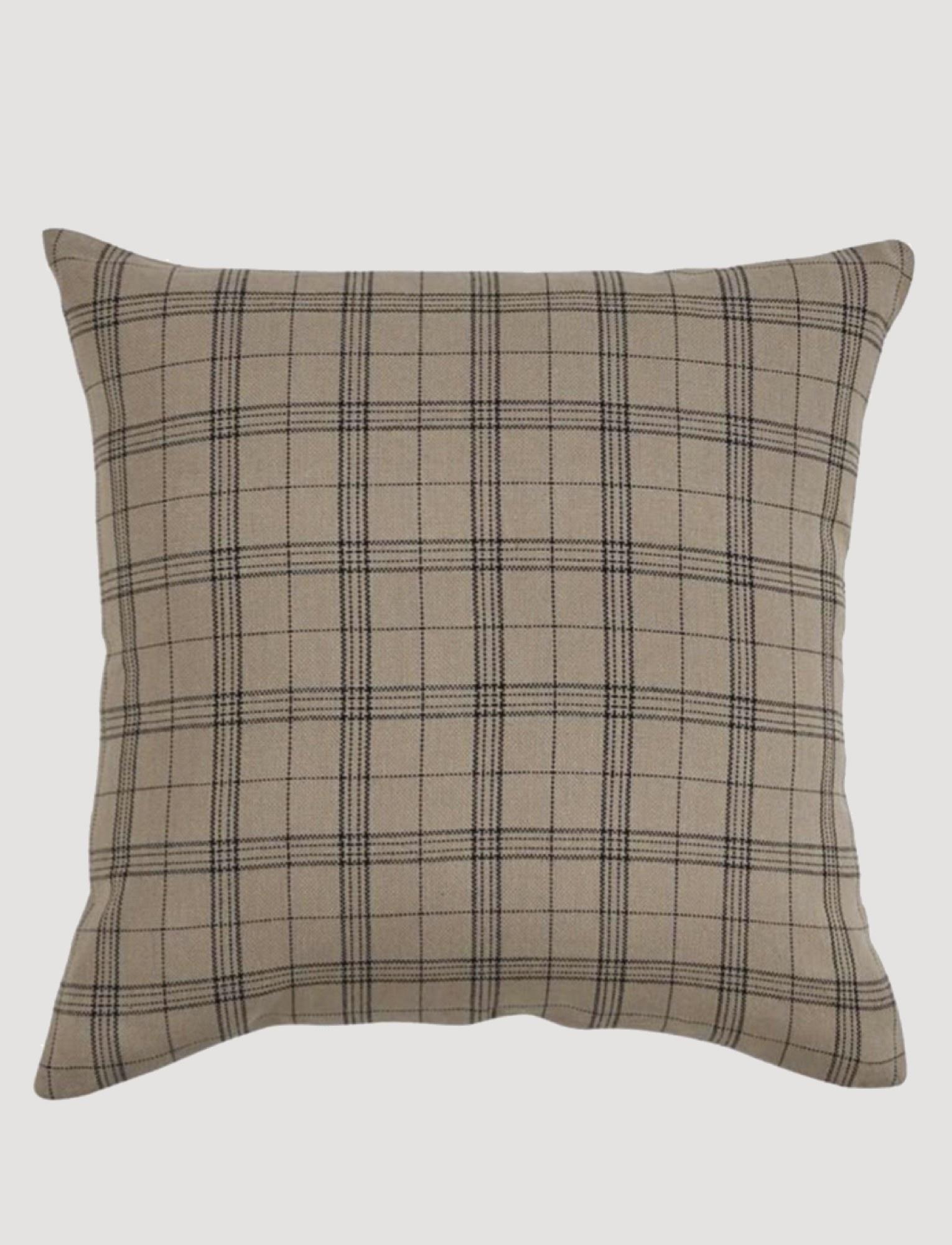"""Park Designs Fieldstone Black Plaid Pillow 20"""""""
