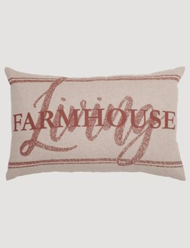VHC Brands Sawyer Mill Red Farmhouse Living Pillow
