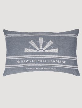 VHC Brands Sawyer Mill Blue Windmill Blade Pillow