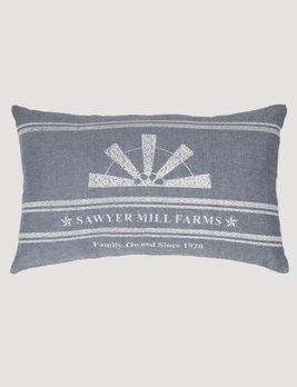 VHC Brands Sawyer Mill Blue Windmill Blade Pillow