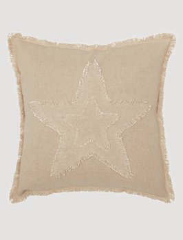 VHC Brands Burlap Vintage Star Pillow