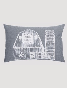 VHC Brands Sawyer Mill Blue Barn Pillow