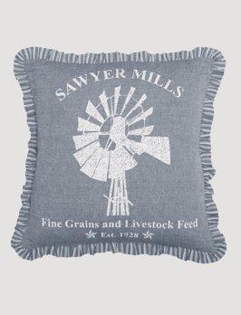 VHC Brands Sawyer Mill Blue Windmill Pillow